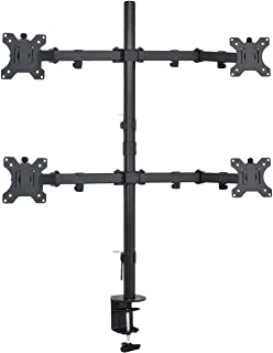 """VIVO VIVO Quad LCD Monitor Desk Mount Stand Heavy Duty Fully Adjustable fits 4 /Four Screens up to 30"""" (STAND-V004)"""