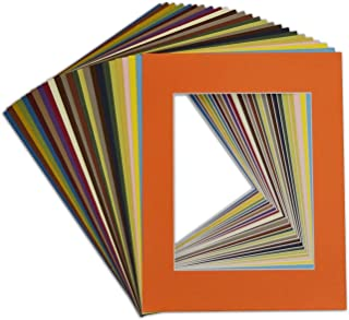 Acid-Free Pack of 50 8 by 10-inch Black Picture Mat Mattes with White Core Bevel Cut for 5x7 Photo Studio 500