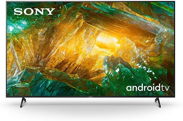 Tv 85 pollici, smart tv 4k hdr led ultra hd, compatibile con alexa sony kd85xh8096pbaep, android tv KE-85XH8096
