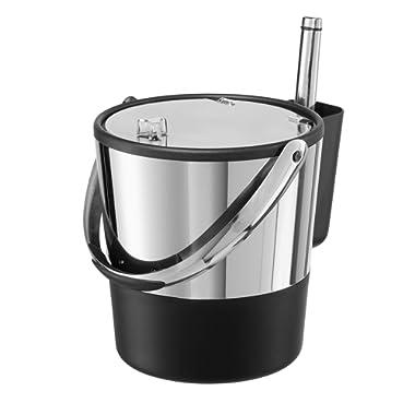 Oggi 7311AM 7311 Ice Bucket, 4-Quart, Stainless Steel/Black