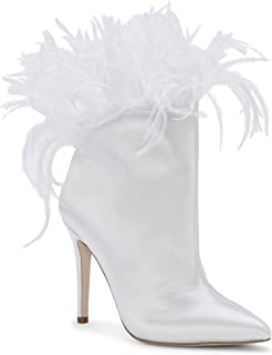 جيسيكا سيمبسون بريكسي أحذية طويلة للنساء ساتان أبيض 5