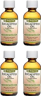 De La Cruz Pure Eucalyptus Essential Oil, Steam-Distilled, bottled in USA 1 FL OZ (4 Bottles)