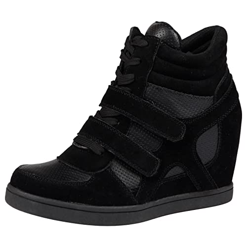 86c8bbc6418 ByPublicDemand Thea Womens Hidden Wedge Trainers