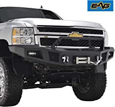 EAG Front Winch Bumper with LED Lights Heavy Duty