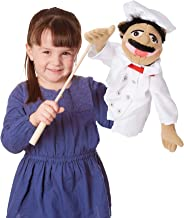 Melissa & Doug Chef Puppet with Detachable Wooden Rod (Puppets & Puppet Theaters, Animated Gestures, Inspires Creativity, Great Gift for Girls and Boys - Best for 3, 4, 5 Year Olds and Up)