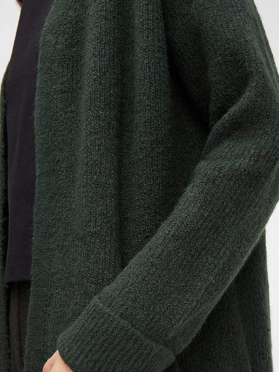 PIECES Damen Strickjacke Longline Duffel Bag