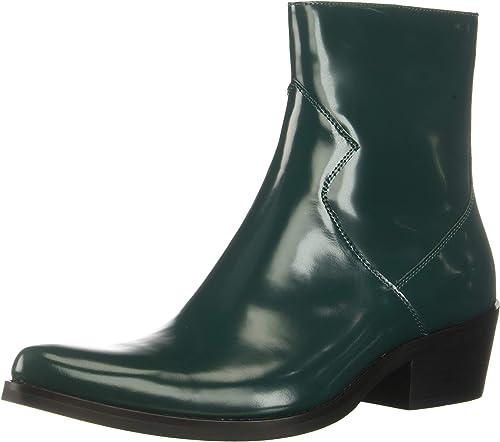 CK Jeans Men's Alden Box Calf Fashion botas, Bottle verde, 11 M US