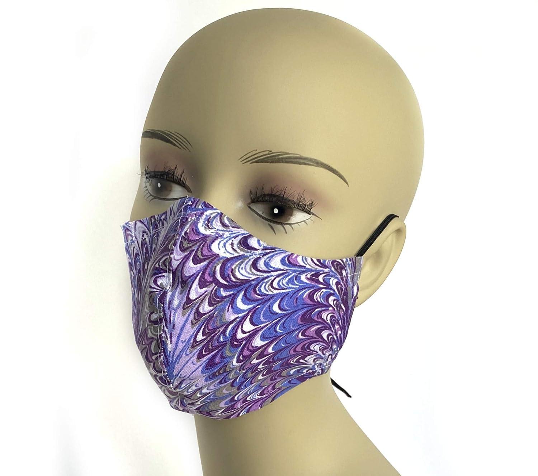 Purple Splash double layer Ranking TOP18 contoured face Sacramento Mall washable mask a cloth