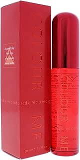 Colour Me | Red | Parfum de Toilette | Perfume Spray | Womens Fragrance | Chypre Fruity Scent | 1.7 oz