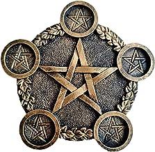 Home Decoratieve Pentagram Kandelaar, Unieke Pentagram Theelichthouder, Tarot Kaars Kaarshouder Decor, met 5 Kandelaars - ...