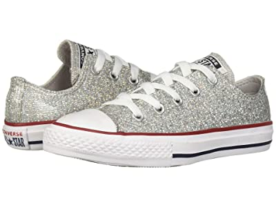 Converse Kids Chuck Taylor All Star Sparkle Ox (Little Kid/Big Kid) (Mouse/Enamel Red/White) Girls Shoes