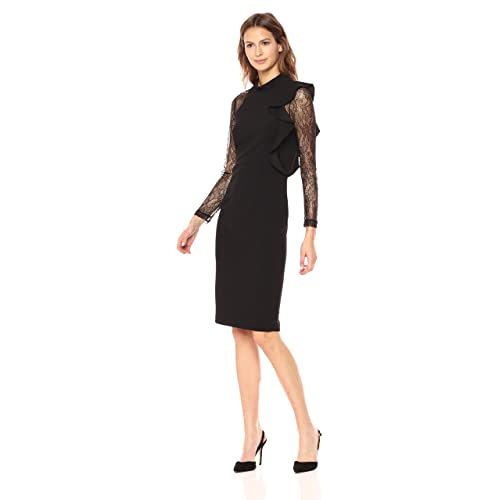 Adrianna Papell Women s Mock Neck Sheath Dress with Lace ef4fcd982