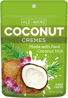 ALE + WANG Coconut Cremes Hard Candy | Made with 100% Pure Coconut Milk | Great Alternative to Chocolate, Caramel, and Toffee (2-Pack)