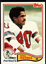 Football NFL 1982 Topps #153 Mike Haynes Patriots
