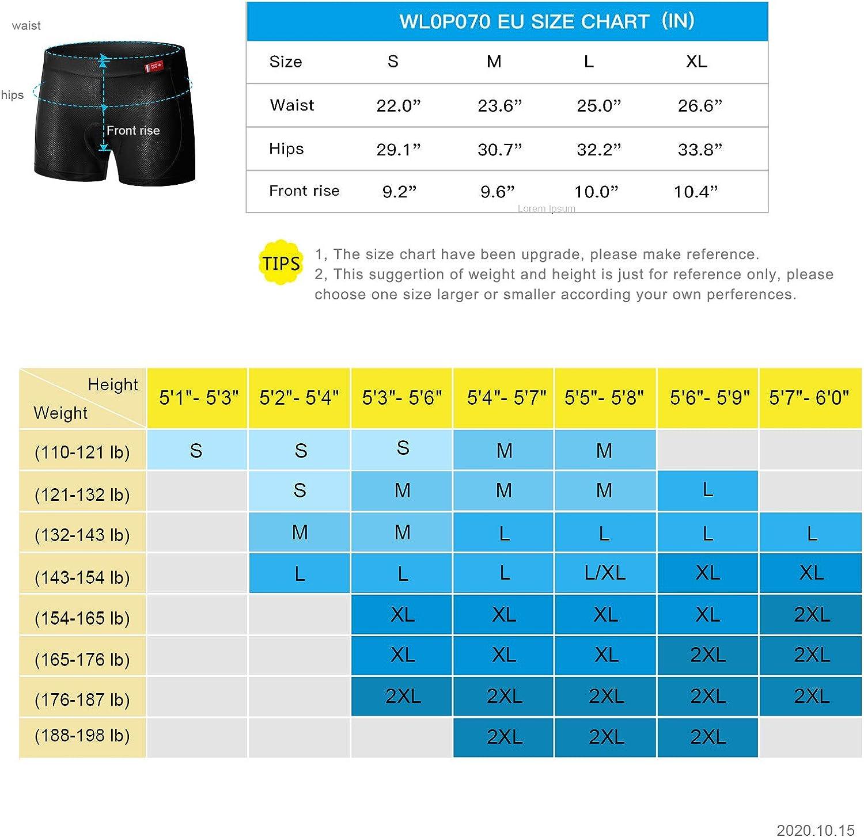 Santic Damen Fahrrad Unterw/äsche Gepolstert Radunterhose Elastische Atmungsaktiv MTB