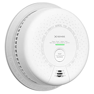 X-Sense 10-Year Battery (Not Hardwired) Combination Smoke and Carbon Monoxide Detector Alarm, Dual Sensor Smoke CO Alarm C...