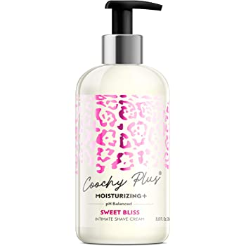 Coochy Plus Intimate Shaving Cream SWEET BLISS For Pubic, Bikini Line, Armpit - Rash-Free With Patent-Pending MOISTURIZING+ Formula – Prevents Razor Burns & Bumps, In-Grown Hairs (Bottle 8.5oz)