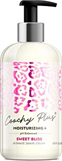 Coochy Plus Intimate Shaving Cream SWEET BLISS For Pubic, Bikini Line, Armpit –..