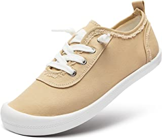 Womens Slip On Sneakers Low Top Canvas Shoes Classic Fashion Sneakers