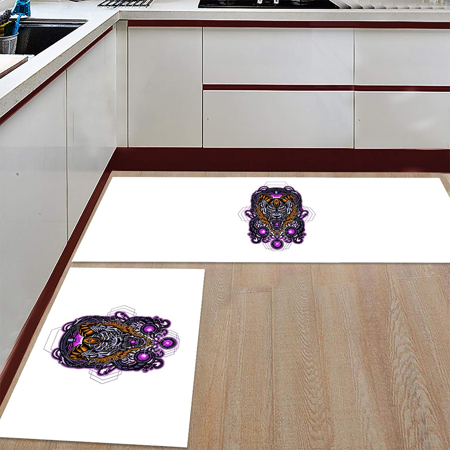Advancey 2 Pieces Anti-Slip Kitchen Mats Simple shopping Goat Challenge the lowest price of Japan ☆ M Line with