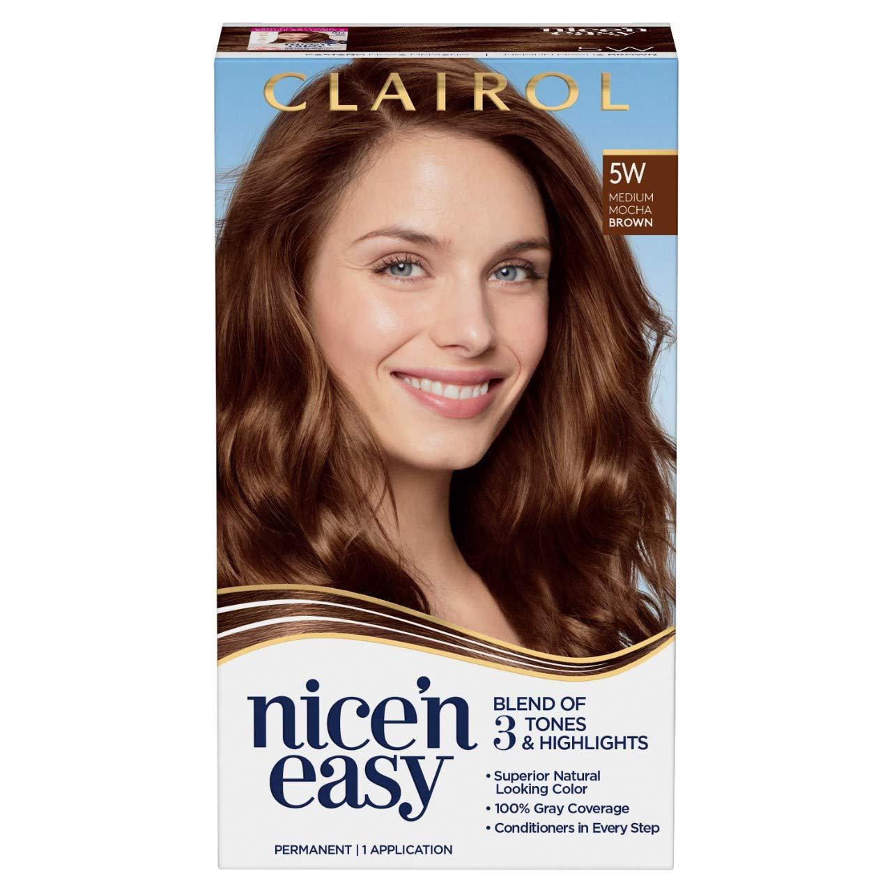 New color Clairol Nice'n Easy Permanent Hair Gifts Dye Mocha Brown 5W Ha Medium