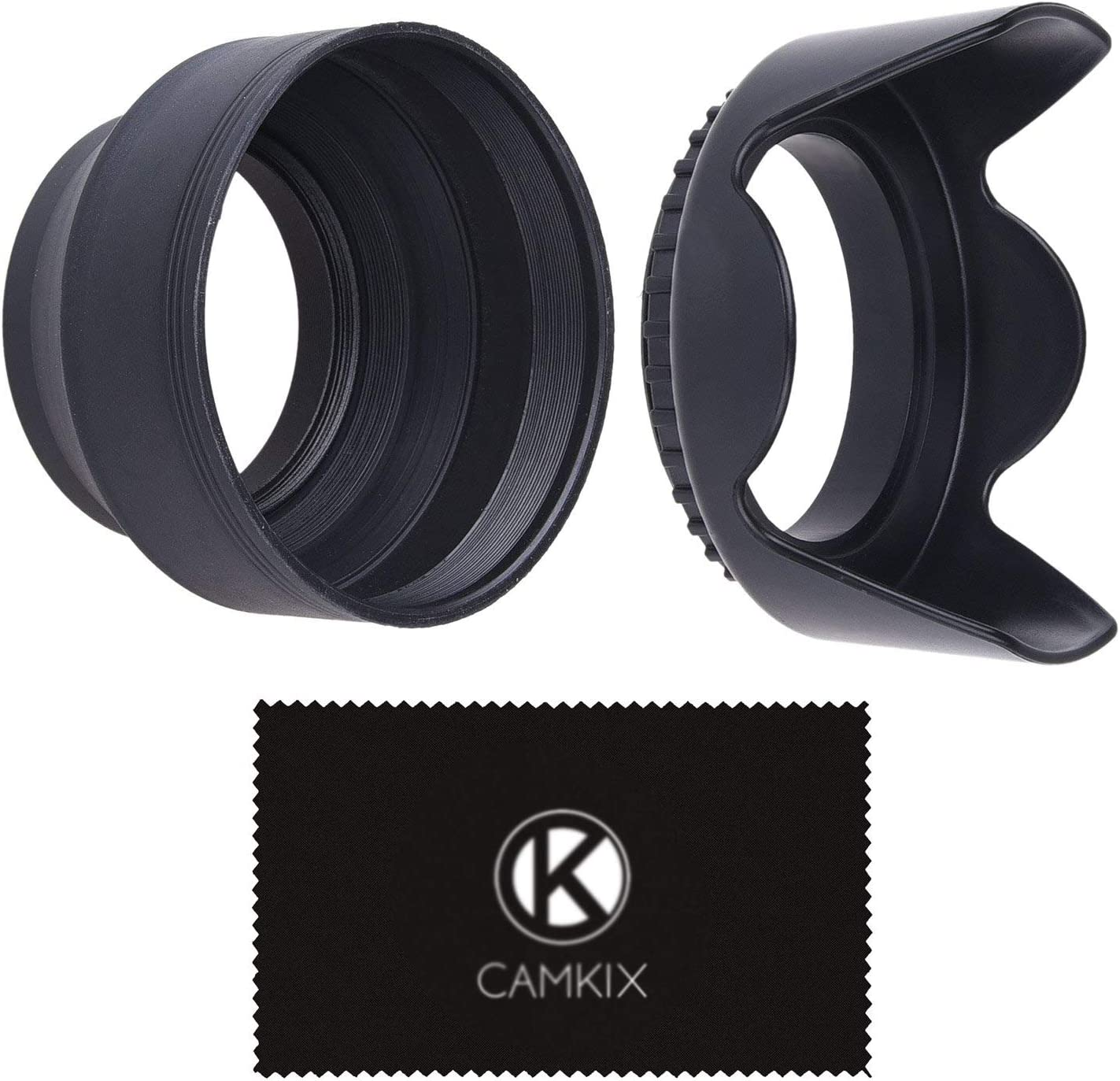 Camera Lens Fashionable Hoods - Rubber Collapsible Set Flower Max 71% OFF Tulip of +