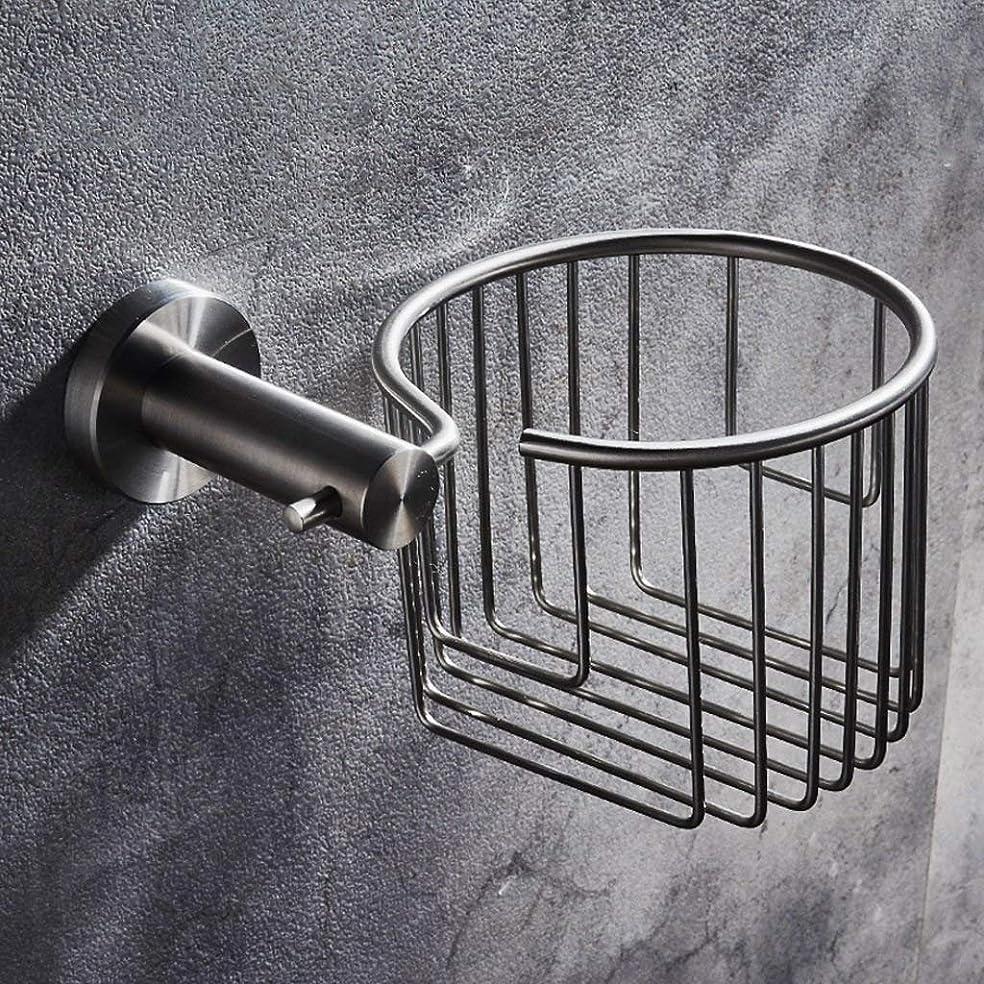 販売員リーチ強要Gulakey シンプルな304のステンレス鋼の浴室のロール紙ホルダー浴室紙タオルバスケットキッチンロールディスペンサー