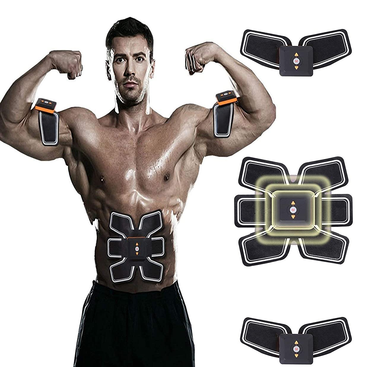 永遠のジャングルバッグGWM トレーニングマッサージ筋肉トレーニングベルトトレーナーウエストトレーナーウエストトリミングベルトEMSトレーニング機器、スマートホームオフィスフィットネス機器ユニセックス(320 * 260 * 50mm)