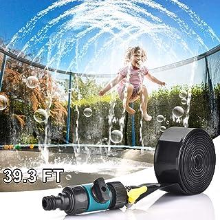 WUBUMIM Trampoline Sprinkler Water Park, Outdoor Water Game Sprinkler for Trampoline, Fun Summer Backyard Water Park Toy f...