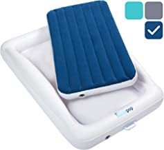 hiccapop Inflatable Toddler Travel Bed with Safety Bumpers | Portable Blow Up Mattress..