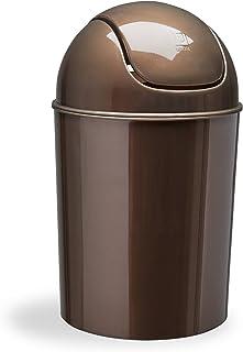 Umbra SCARBOROUGH Mini poubelle 3,8 l avec couvercle basculant, bronze, acier inoxydable 18/8
