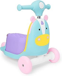 Skip Hop Carrito montable Juguete 3 en 1 para niños, Patinete y vagón, Unicornio