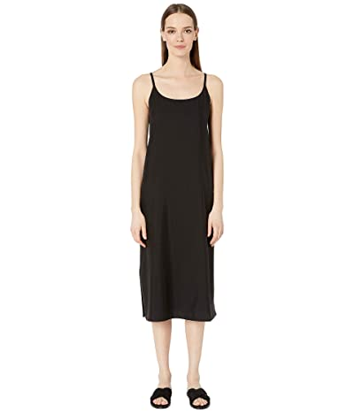 Eileen Fisher Cami Calf Length Dress (Black) Women