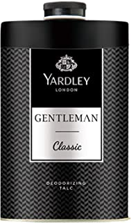 Yardley Gentleman Classic Perfumed Talcum Body Powder , Fresh and scented all-day, 250 gm