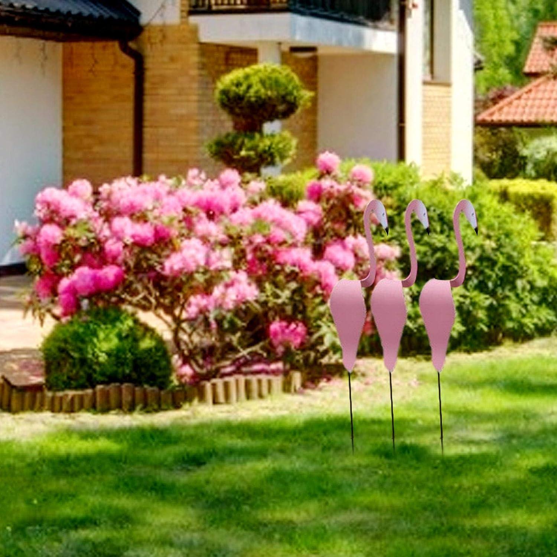Mini Ornements De Flamants Roses 11,5 /× 23 Cm Ornements De Jardin De Flamant Rose D/écor De Flamant Rose Oiseau Lunatique Avec Une L/ég/ère Rotation Oiseau Dynamique Flamants Roses Brillants