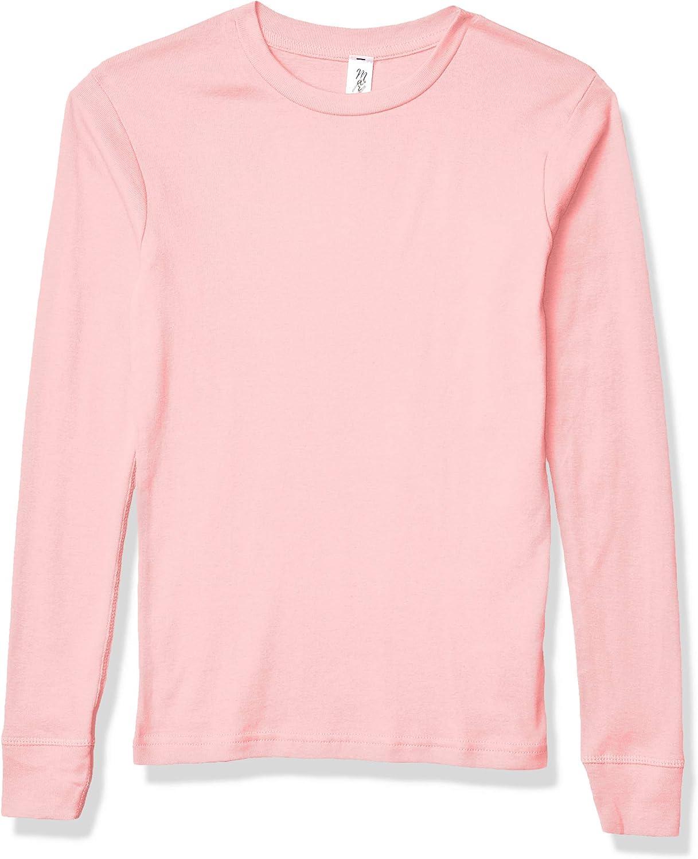 Marky G Apparel Girls' Big Baby Rib Pajama Top