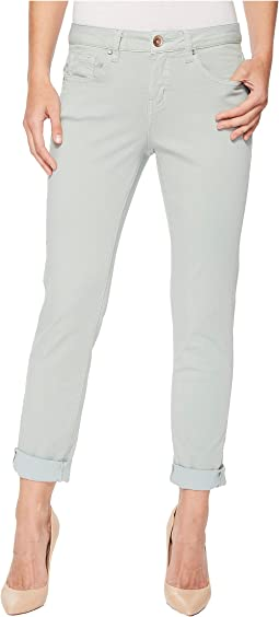 Jag Jeans - Carter Cuffed Girlfriend Jeans in Freedom Knit Denim
