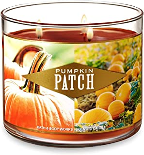 Bath and Body Works Pumpkin Patch Candle - Large 14.5 Ounce 3-wick Limited Edition Fall Pumpkin Candles