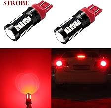 Alla Lighting T20 7440 7443 LED Flash Brake Lights Bulbs 2800 Lumens Xtreme Super Bright 12V 5730 33-SMD Car Truck Red Strobe Flashing Stop Light Replacement 7441 7444 7443LL 7440LL W21W