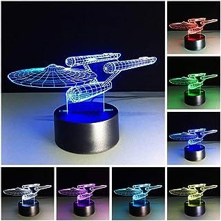 wangZJ Horse 3d Lámpara de luz nocturna Luces decorativas navideñas Led 7 Cambio de color Interruptor de prensa 3d Luz de...