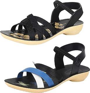 WORLD WEAR FOOTWEAR Women's Multicolor (983-969) Casual Sandal