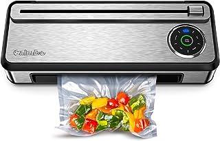 CalmDo Machine Sous Vide Alimentaire en Acier Inoxydable, 85kpa Appareil de Mise Sous Vide Automatique, Rouleau de Sacs So...