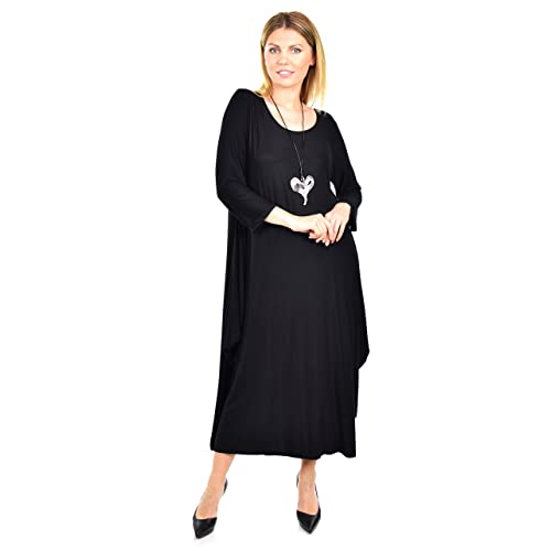 0165d00840 Dare2BStylish Women Lagenlook Plus Size Summer Dress Quirky Loose Fitting