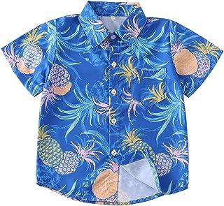 Boys Shirts Hawaiian Shirt for Boys Button Down Short Sleeve Shirts Summer Graphic Tees 3D Print Aloha Beach Tops