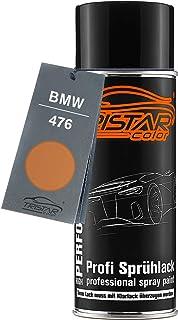TRISTARcolor Autolack Spraydose für BMW 476 Ambra/Bernstein Metallic/Goldorange Metallic Basislack Sprühdose 400ml