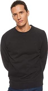 TIMBERLAND Men's Exeter River Basic Crew Sweatshirt, Black, Large