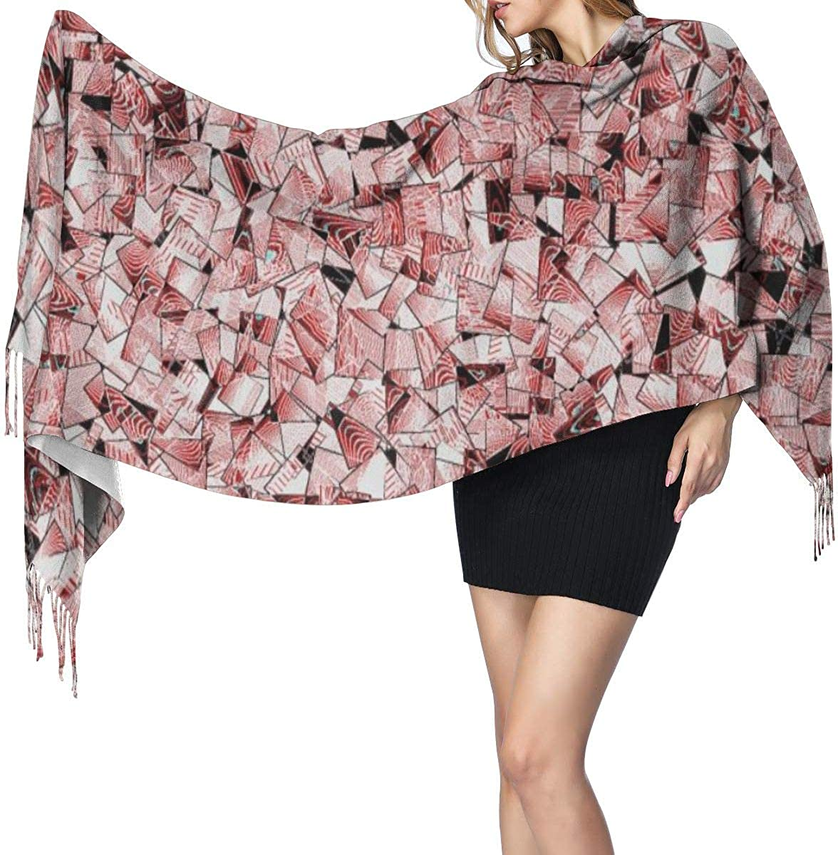 OFFicial store favorite Pink Card Long Blanket Scarf For Fashion Wr Women Tassel Shawls