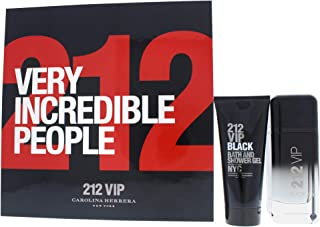 Carolina herrera 212 vip black edp 100 ml + s/gel 100 ml set regalo.