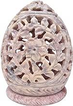 SouvNear 811778020691 Votive Candle Holders Stone Sculpture - Decorative Lamp, Beige