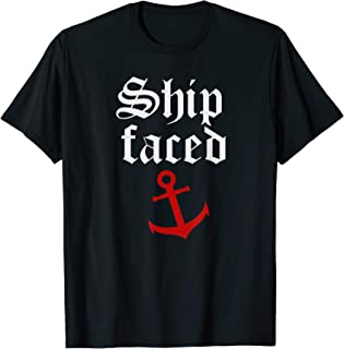 Funny Cruise Shirts With Sayings Lets Get Ship Faced T-Shirt